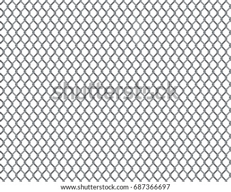 Rabitz grid seamless pattern. Background with repeatable metal netting. Raster version