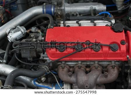 Race car engine - stock photo