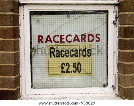 Race cards - stock photo