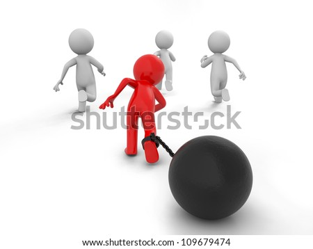 race/competition /win/success/Four people in the race - stock photo