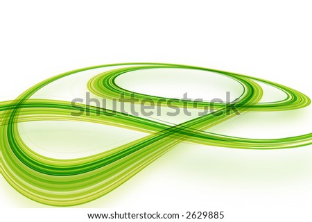 Race to go green background. - stock photo
