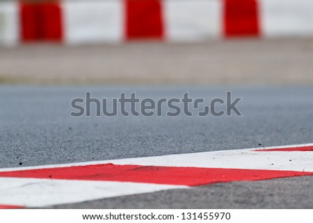 Race track detail, shallow depth of field - stock photo