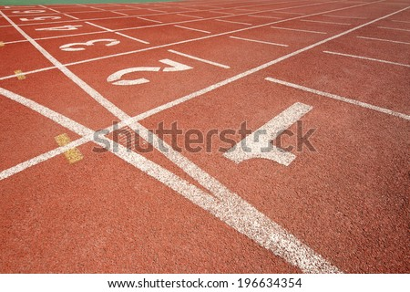 race track in red wither numbers - stock photo
