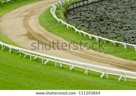 Race track of Horse - stock photo