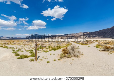 Racetrack in the Death Valley National Park - stock photo