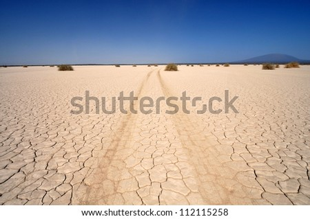 Racetrack playa in death valley, California USA - stock photo