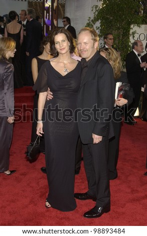 RACHEL GRIFFITHS & husband at the 61st Annual Golden Globe Awards at the Beverly Hilton Hotel, Beverly Hills, CA. January 25, 2004