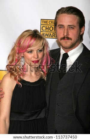 Rachel McAdams and Ryan Gosling at the 12th Annual Critics' Choice Awards. Santa Monica Civic Auditorium, Santa Monica, CA. 01-12-07 - stock photo