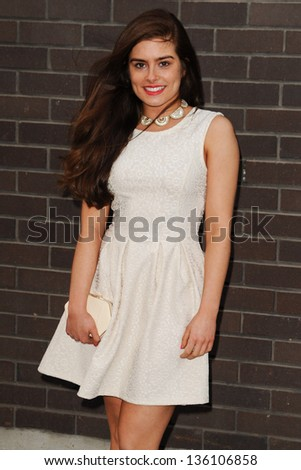 Rachel Shenton arriving for the Chickenshed Theatre charity event, London Studios, South Bank, London. 16/04/2013 Picture by: Steve Vas