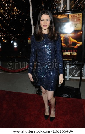 Rachel Weisz   at the Los Angeles Premiere of 'The Wrestler'. The Academy Of Motion Arts & Sciences, Los Angeles, CA. 12-16-08
