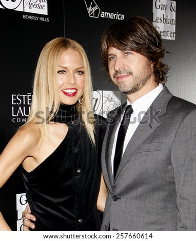 Rachel Zoe and Rodger Berman at the Los Angeles Gay & Lesbian Center Honors Rachel Zoe held at the Sunset Tower Hotel, California, United States on January 23, 2012.  - stock photo