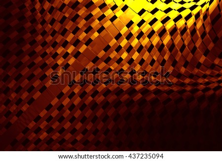 Racing abstract background. It contains elements of the checkered flag, suitable for design of the categories of speed, racing, rally, sports. 3D illustration  - stock photo