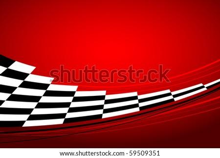 racing banner - stock photo