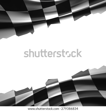 Racing Flag with place for text - stock photo