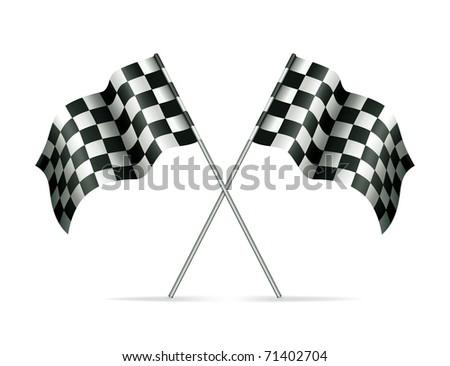 Racing flags, bitmap copy - stock photo
