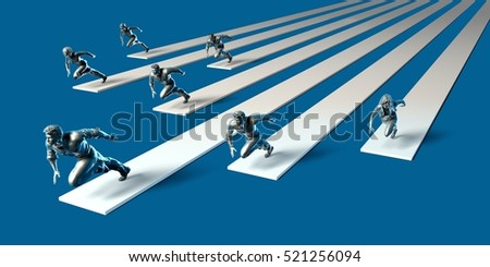 Racing to Success in a Deadline or High Pressure Environment 3d Illustration Render