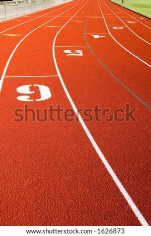 Racing track straightaway. - stock photo
