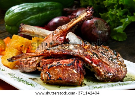 Rack of Lamb - stock photo
