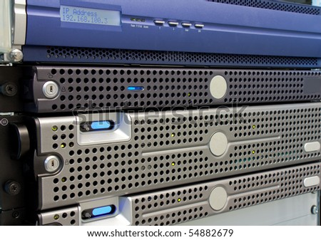 Rack Server - stock photo