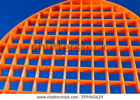 Racquet against the sky - stock photo