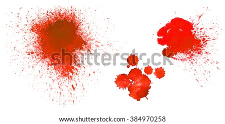 Rad blots on on white background