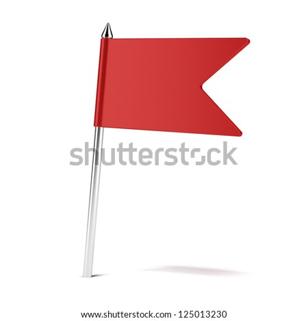 Rad flag pin isolated on a white background - stock photo