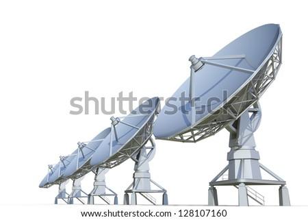 radar on a white background - stock photo
