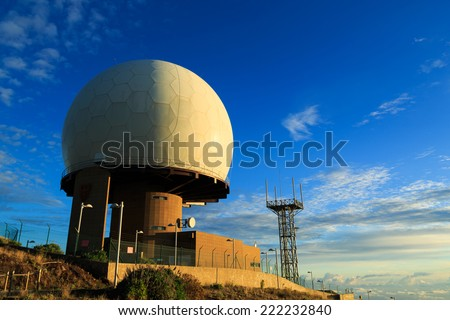 Radar station on Pico do Arieiro, Madeira, Portugal - stock photo