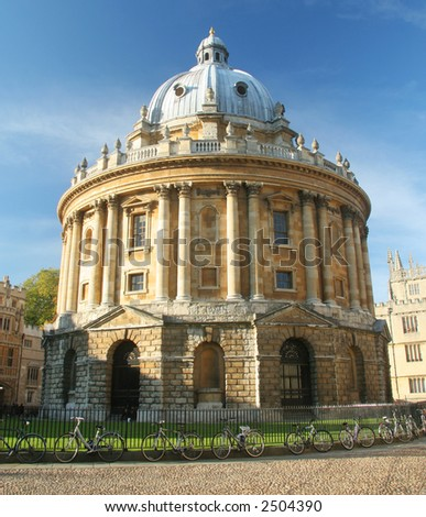 Radcliffe Camera in Radcliffe Square Oxford. Part of the Bodleian Library of Oxford University.