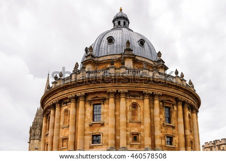 Radcliffe Camera, Oxford, England. Oxford is known as the home of the University of Oxford
