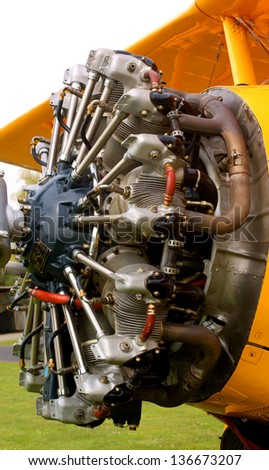 Radial piston engine of vintage plane