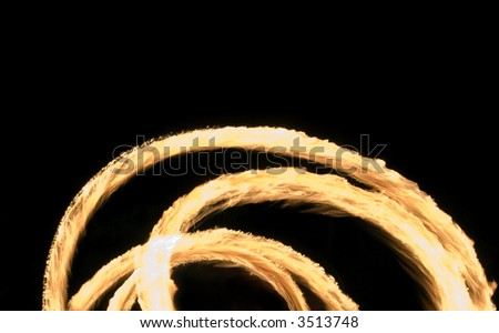 radial texture of fire on a black background