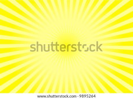 radiant sunshine - stock photo