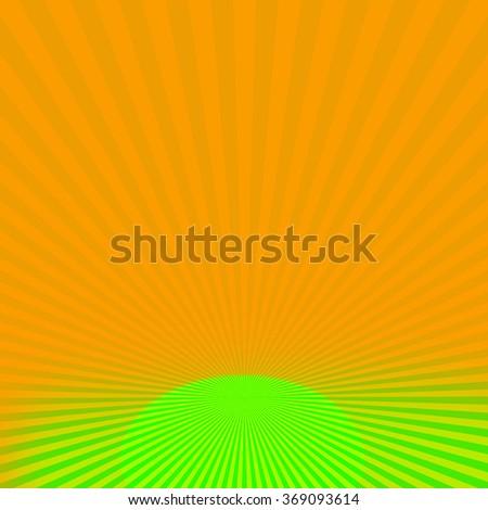 Radiating Rays Background - stock photo
