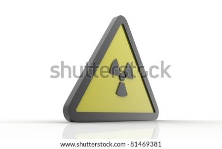 radiation danger sign - stock photo