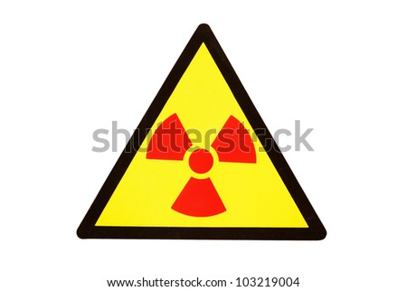 Radiation hazard symbol sign - stock photo