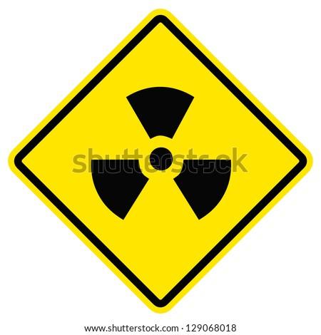 Radiation hazard symbol sign of radhaz threat alert icon. - stock photo