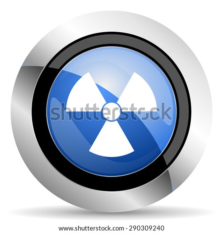 radiation icon atom sign original modern design for web and mobile app on white background   - stock photo