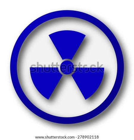 Radiation icon. Blue internet button on white background.  - stock photo