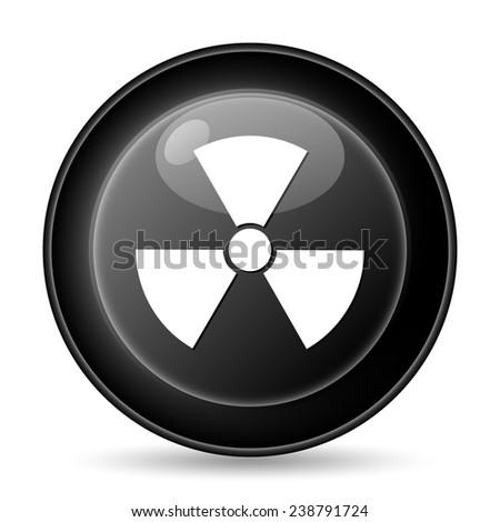 Radiation icon. Internet button on white background.  - stock photo