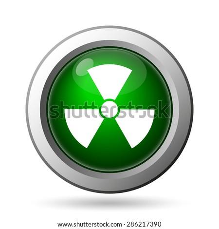 Radiation icon. Internet button on white background  - stock photo