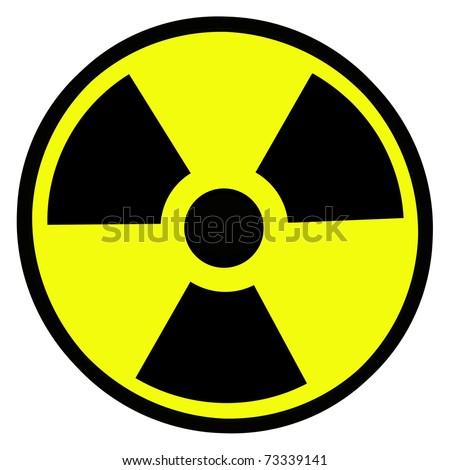 Radiation round sign - stock photo