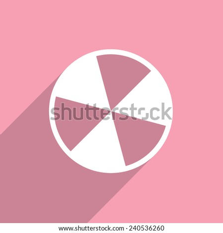 radiation web flat icon illustration. - stock photo