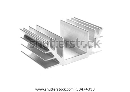 Radiator - heat sink isolated on white background - stock photo
