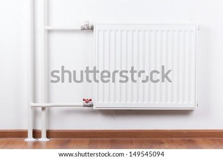 Radiator in apartment, interior  - stock photo
