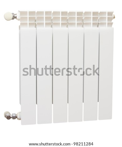 Radiator isolated over a white background - stock photo