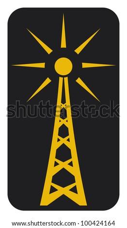 Radio antenna - stock photo