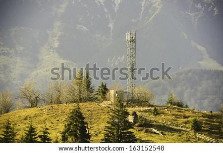 radio antenna - stock photo