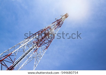 Radio antenna for send and receive Data technology.