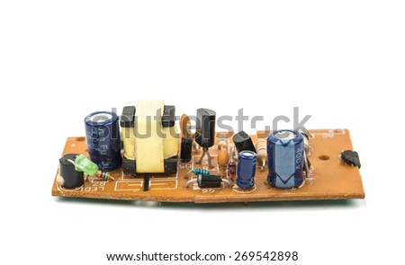 Radio-board on a white background